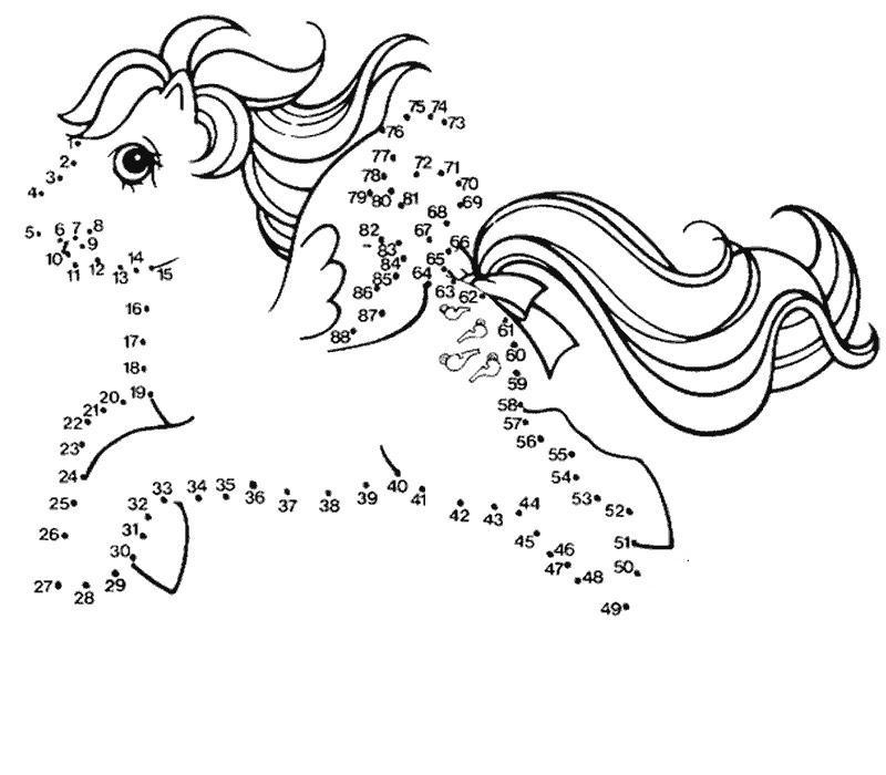 dessin poneys à imprimer