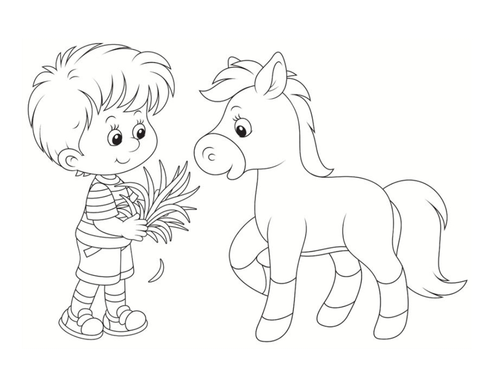coloriage poneys chevaux