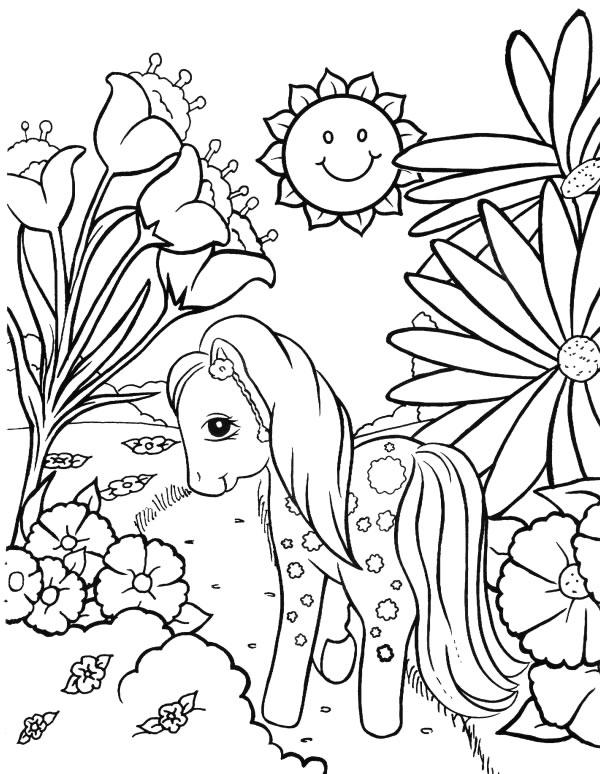 Coloriage petit poney noel - Poney coloriage ...
