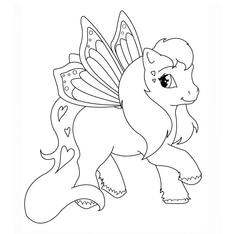 coloriage animaux poney