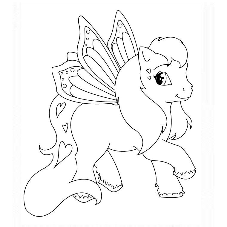 coloriage animaux poney