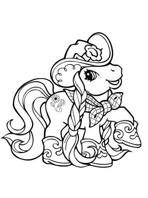 Dessin de poney en ligne - Coloriage poney en ligne ...