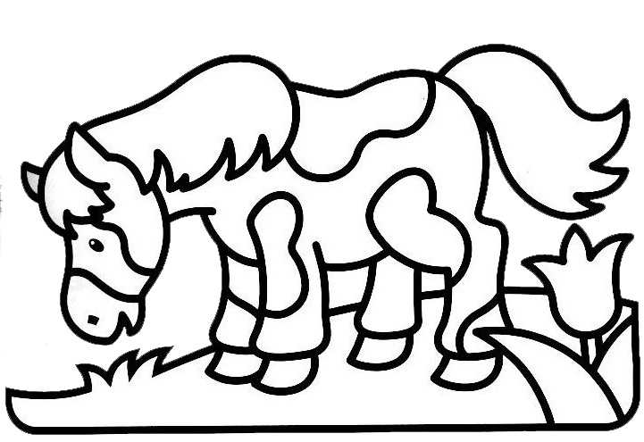 coloriage à dessiner poney ville