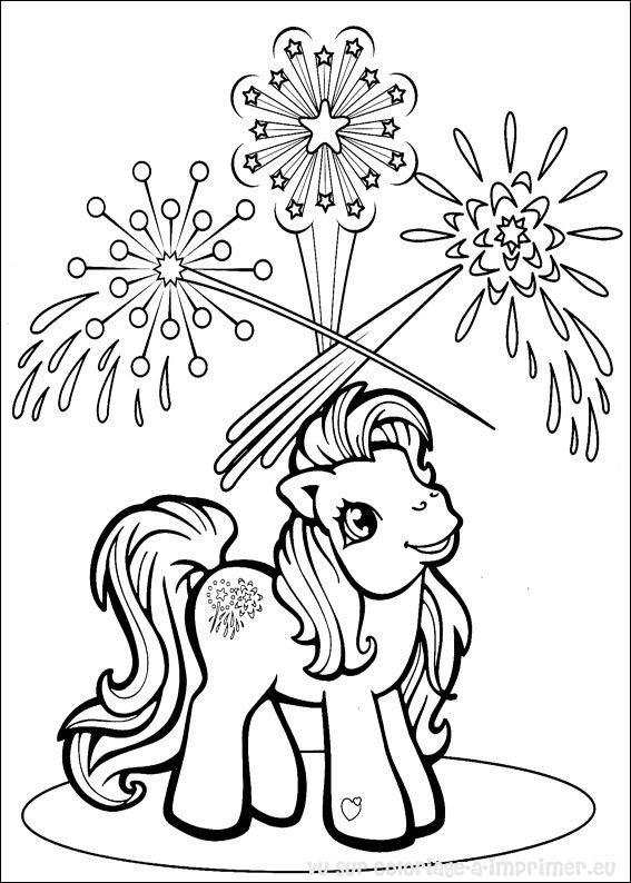 coloriage à imprimer poney volant