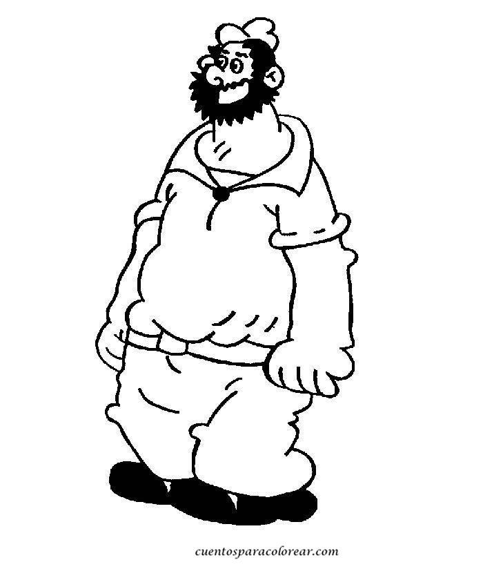 dessin à colorier popeye le marin
