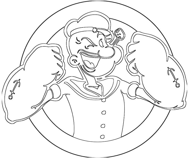dessin popeye imprimer gratuit
