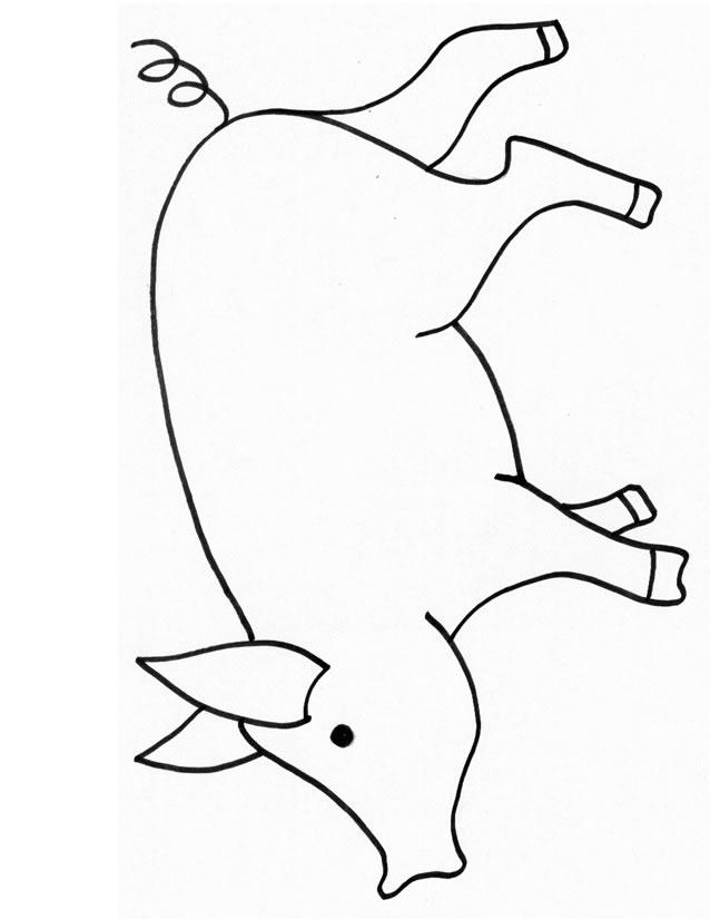 coloriage porc