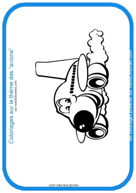 dessin à colorier de porte avion