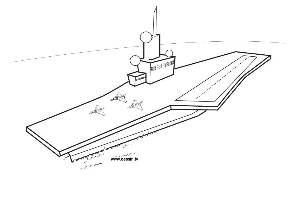 dessin porte avion à imprimer