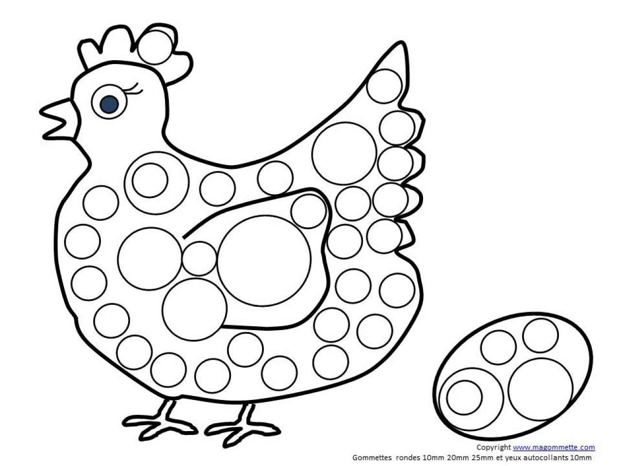 20 dessins de coloriage poule a imprimer gratuit imprimer - Coloriage paques maternelle ...