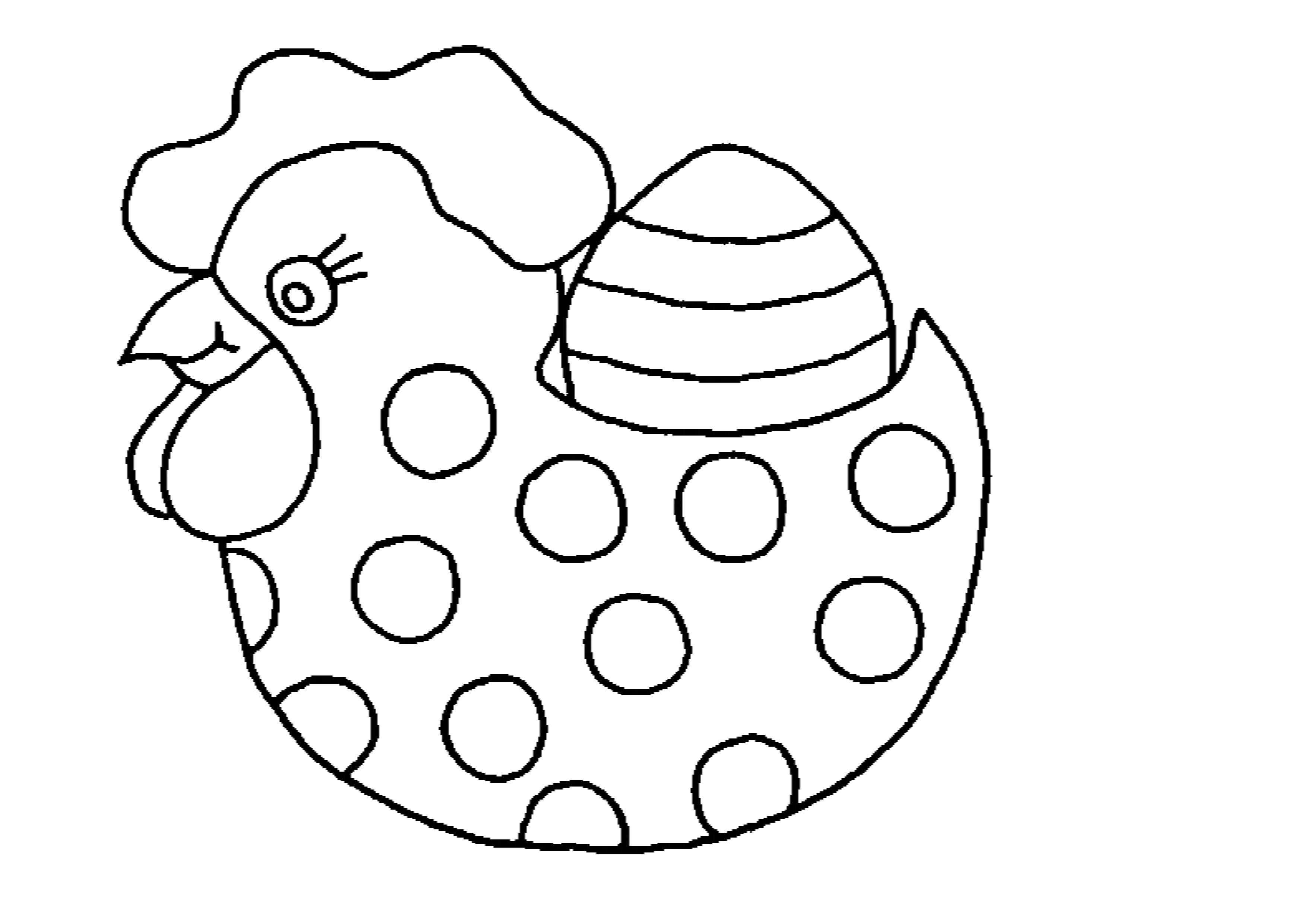 20 dessins de coloriage poule de paques imprimer - Modele oeuf de paques a imprimer ...