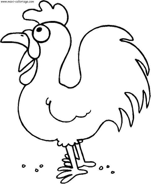 coloriage d'une poule de pâques