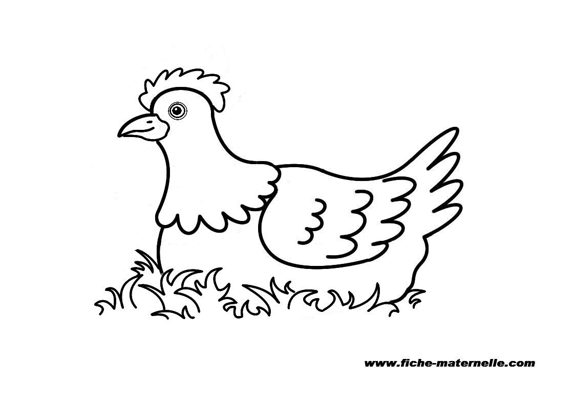 Coloriage poule de paques a imprimer gratuit - Dessin de poules ...