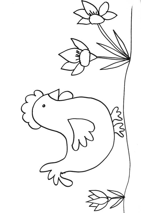 colorier une poule en ligne