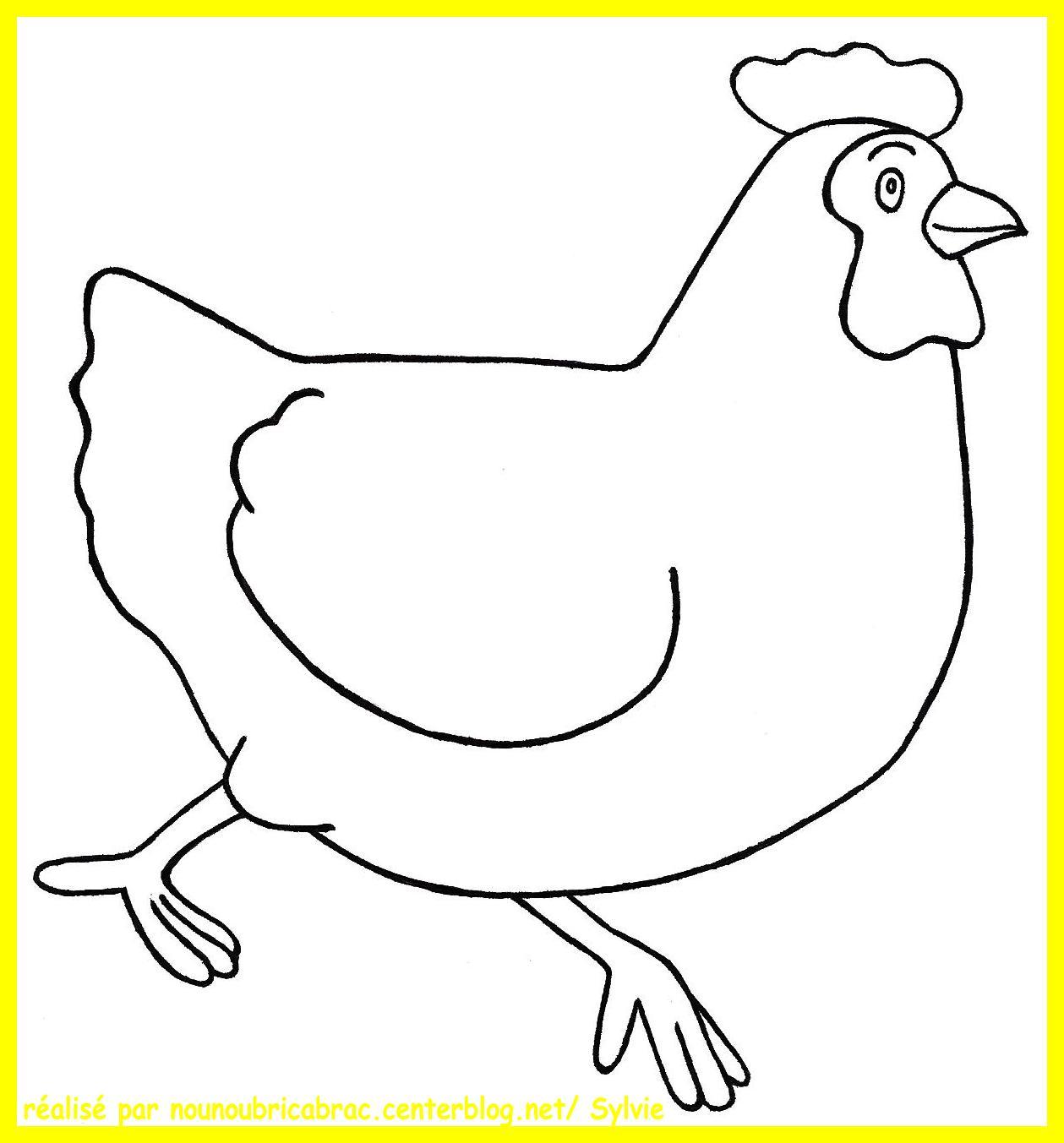 coloriage à imprimer poule de paques