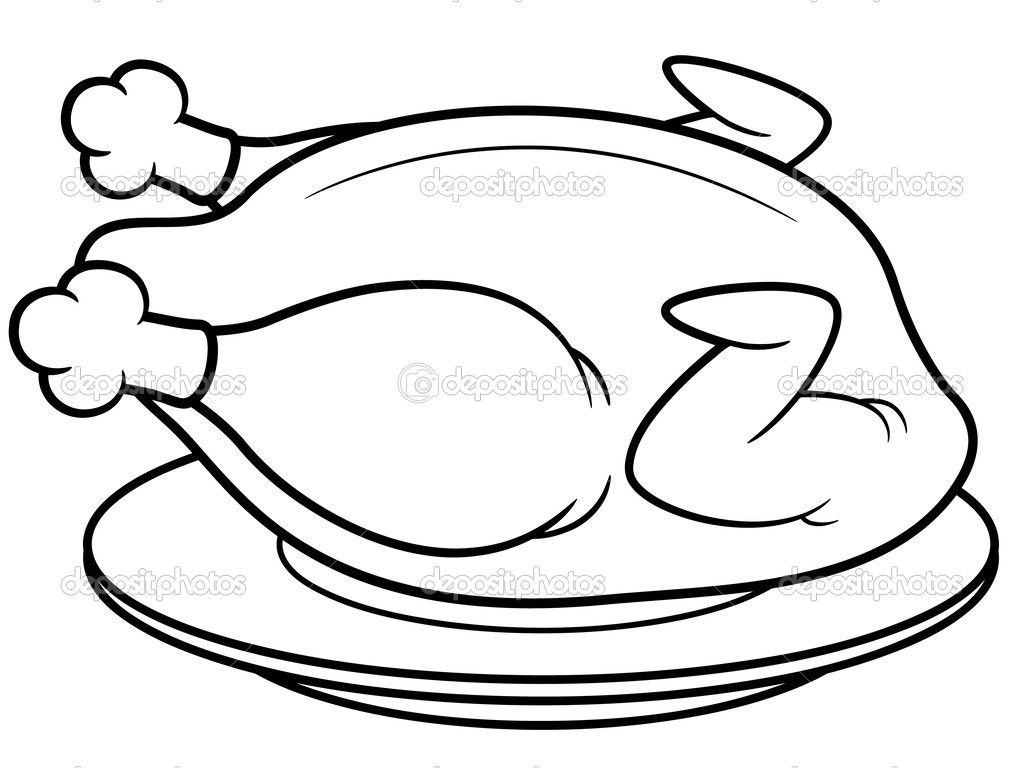 Chapati free colouring pages - Poulet dessin ...