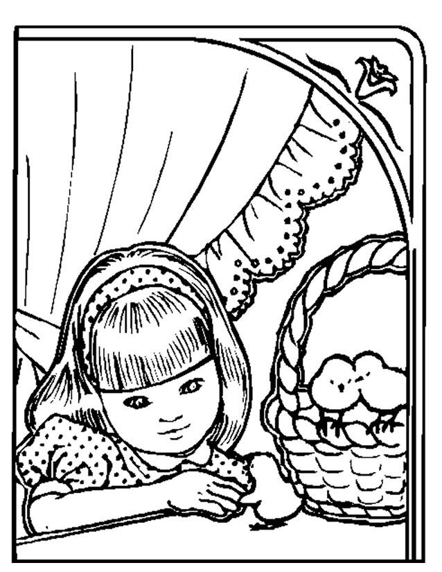 coloriage à dessiner poussin piou à imprimer
