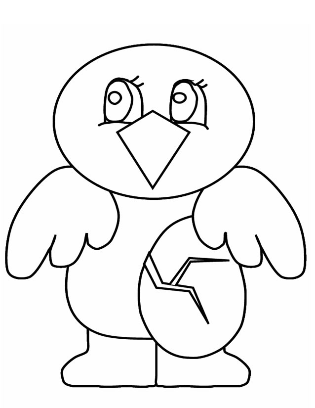 coloriage à dessiner poussin en ligne