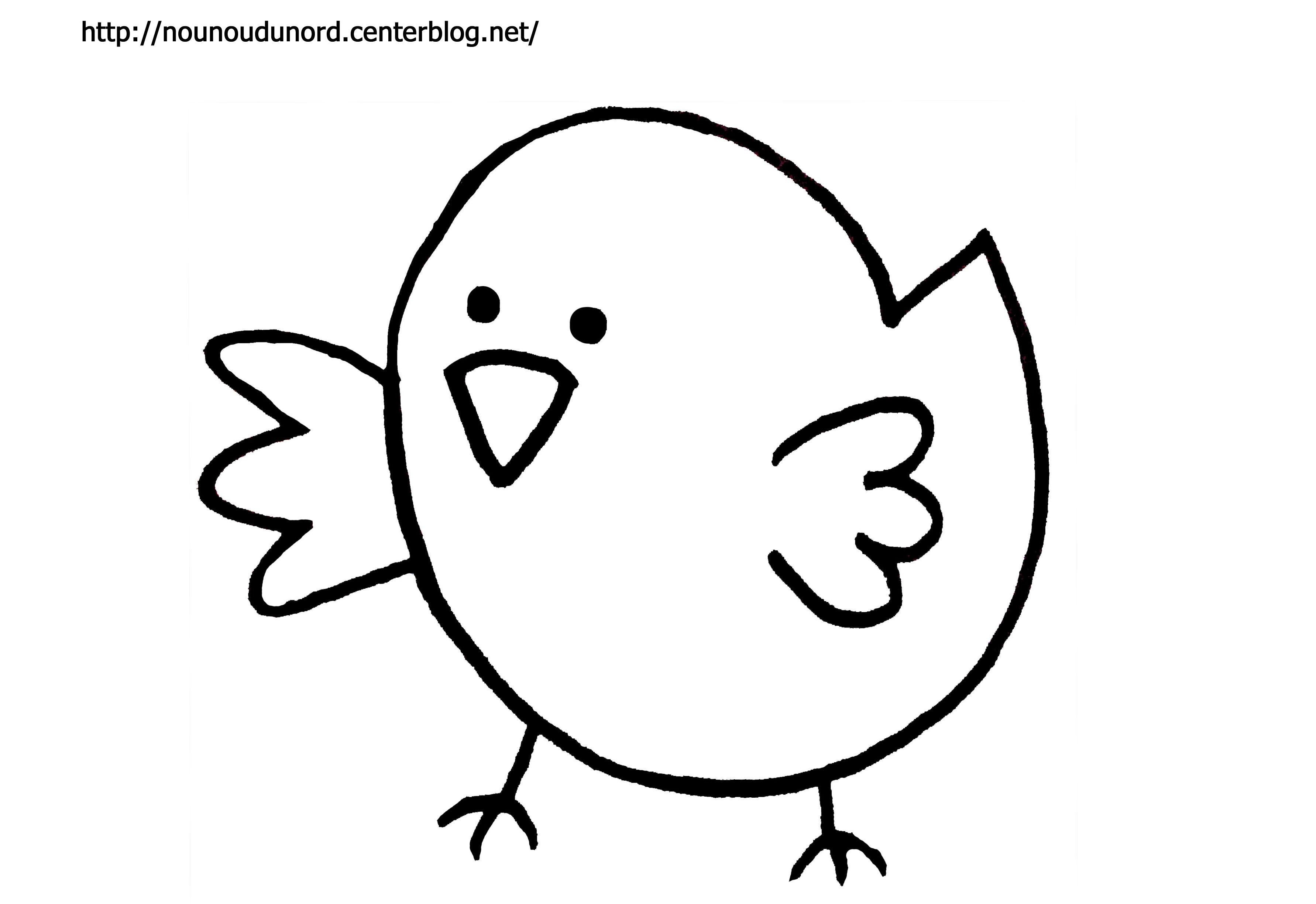 Coloriage dessiner poussin poule coq - Coq a dessiner ...