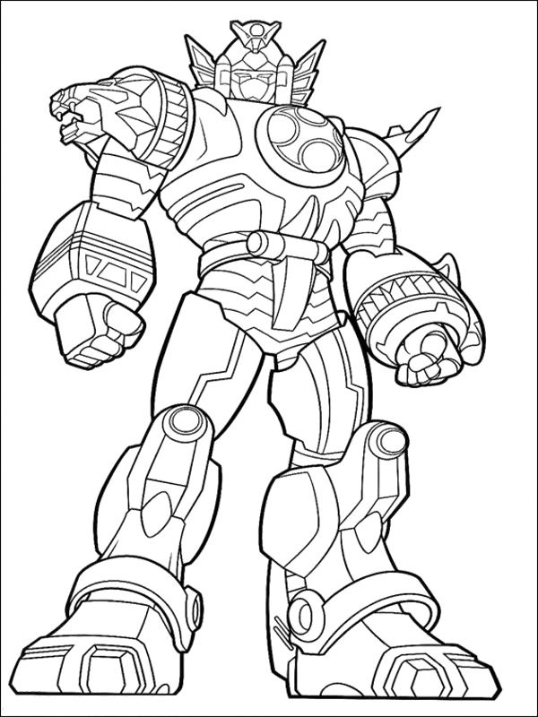 15 dessins de coloriage power rangers megazord imprimer - Power rangers gratuit ...