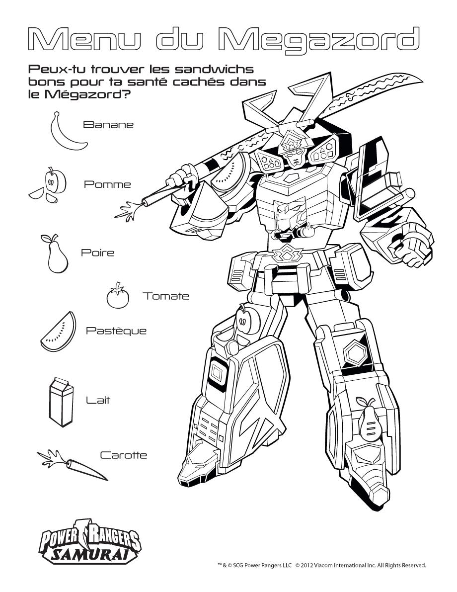 15 dessins de coloriage power rangers megazord imprimer - Power rangers a colorier ...