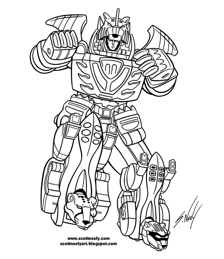 15 dessins de coloriage power rangers megazord imprimer - Dessin power rangers ...