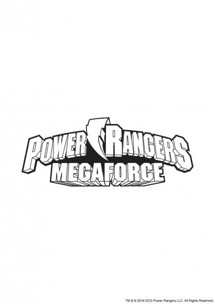 coloriage power rangers super megaforce