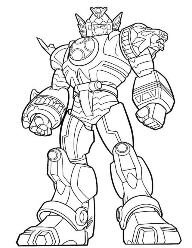 Coloriage power rangers dino charge