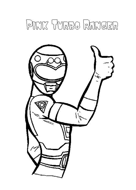 dessin à colorier de power rangers force mystique