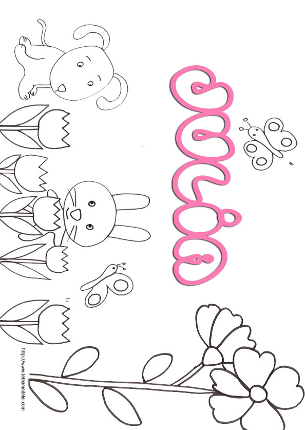 Coloriage prenom lily - Prenom dessin ...