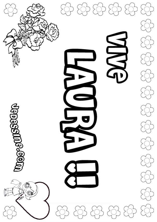 20 dessins de coloriage Prénom Avec Dessin Gratuit à imprimer