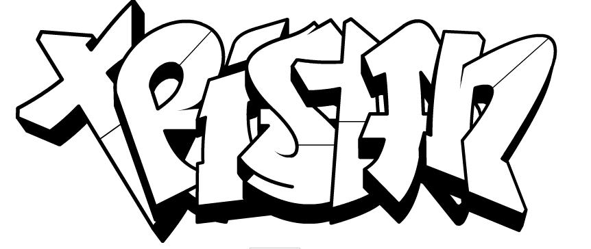 17 dessins de coloriage pr nom en tag imprimer - Coloriage graffiti ...
