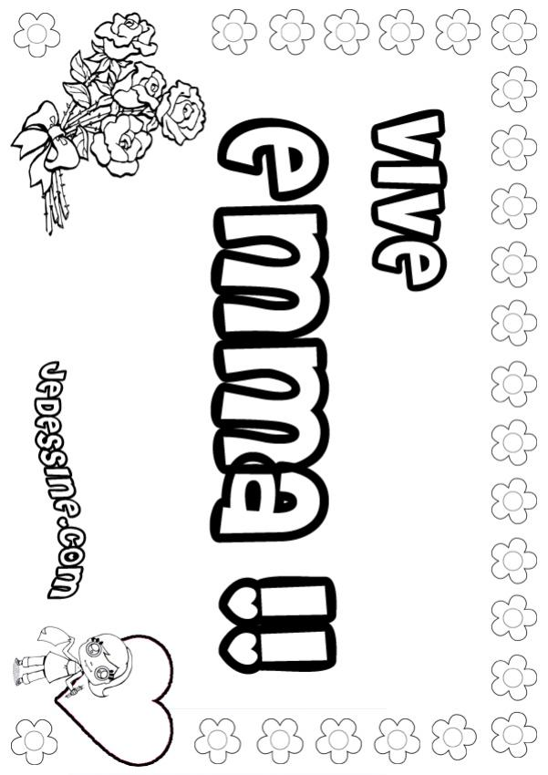 17 dessins de coloriage pr nom en tag imprimer - Prenom dessin ...