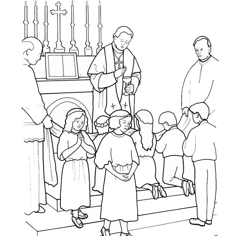 20 dessins de coloriage pretre imprimer - Coloriage catholique ...