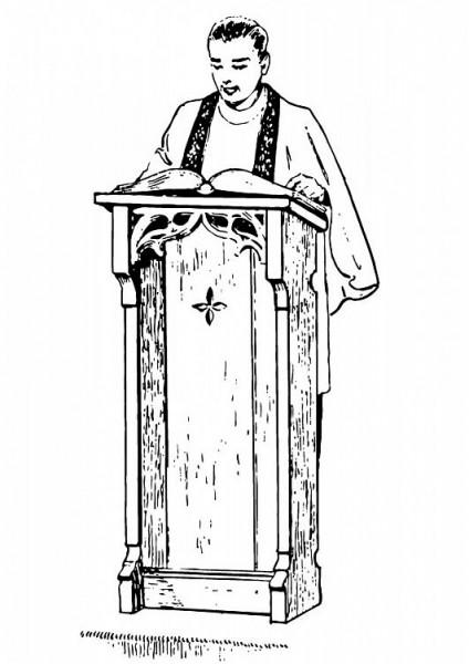 dessin de pretre