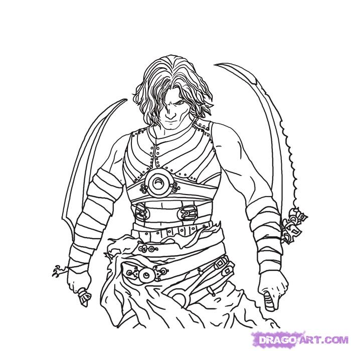 139 Dessins De Coloriage Prince Of Persia 224 Imprimer