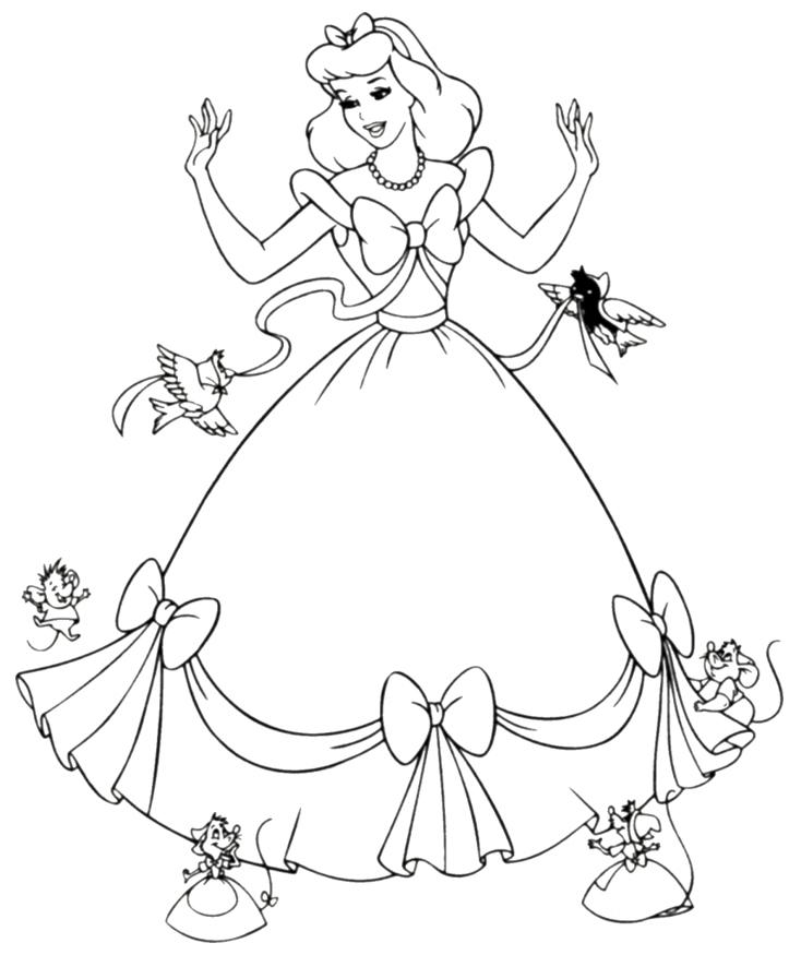 coloriage princesse a imprimer