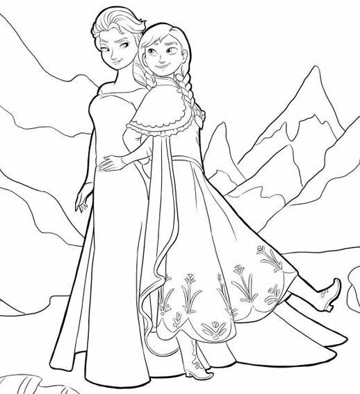 16 dessins de coloriage princesse anna imprimer - Coloriage anna et elsa ...