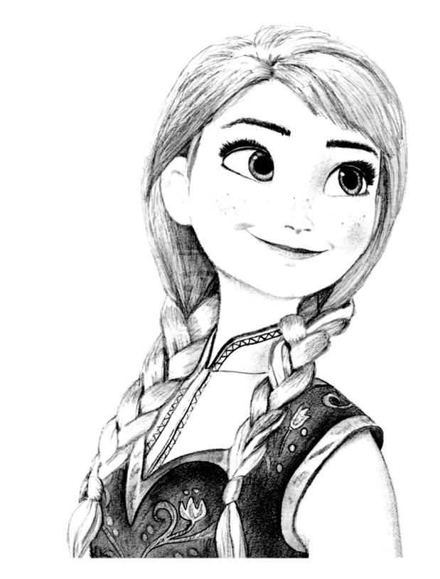 dessin à colorier princesse anne