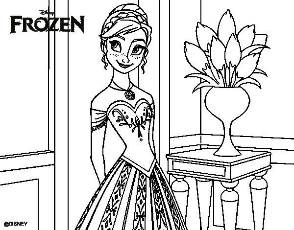 coloriage de princesse anna