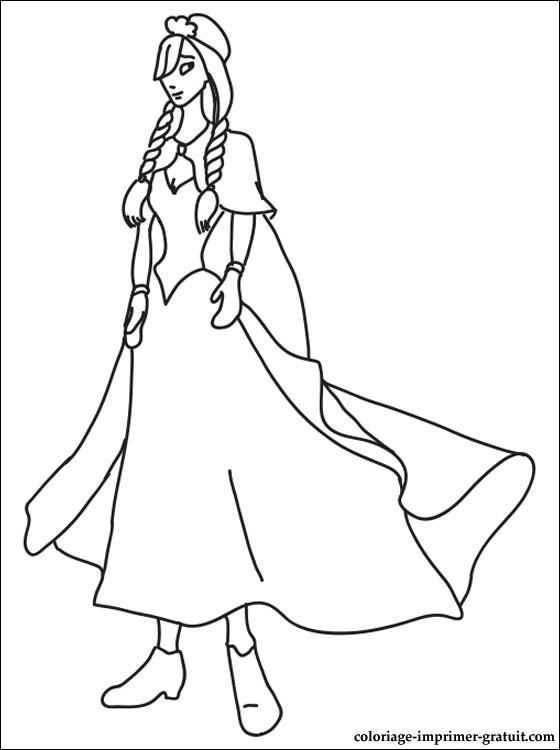dessin princesse anna