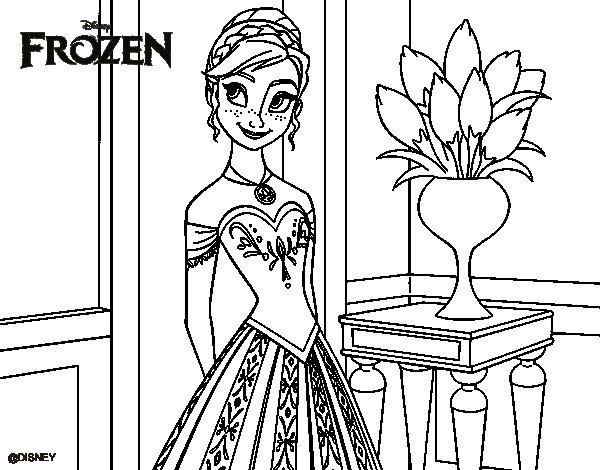 dessin à colorier princesse anna