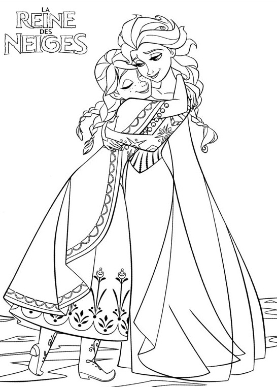 coloriage à dessiner de princesse anna