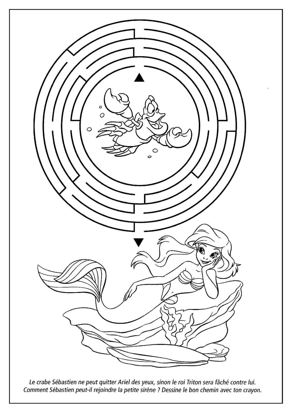 dessin à colorier gratuit princesse ariel