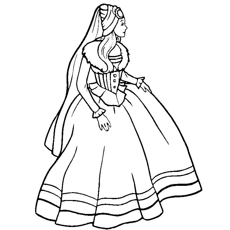 coloriage barbie la princesse