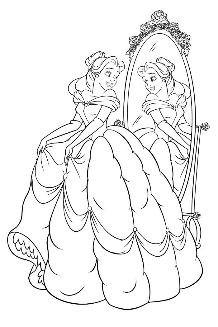 dessin à colorier princesse belle au bois dormant en ligne