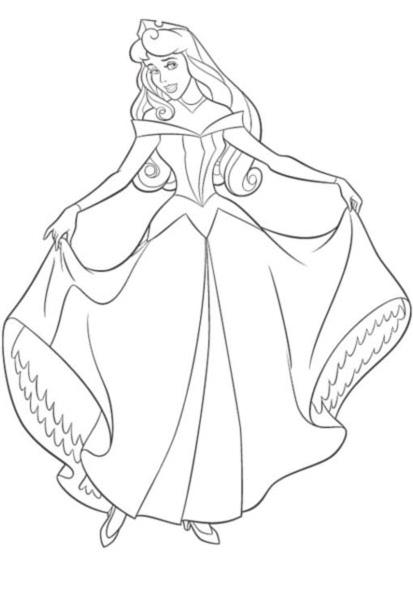 dessin à imprimer princesse belle