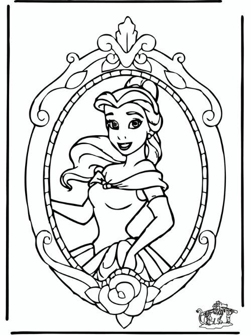 8 Dessins De Coloriage Princesse Belle à Imprimer