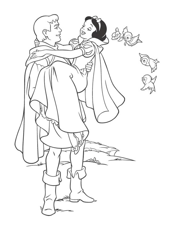 coloriage à dessiner princesse blanche neige a imprimer