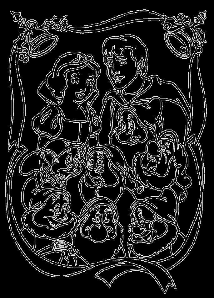 dessin à colorier princesse blanche neige en ligne